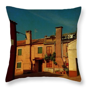 Throw Pillow featuring the photograph Malamocco House No2 by Anne Kotan