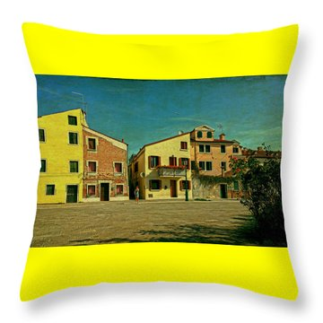 Throw Pillow featuring the photograph Malamocco Main Street No1 by Anne Kotan