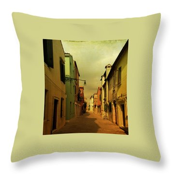 Malamocco Perspective No1 Throw Pillow by Anne Kotan