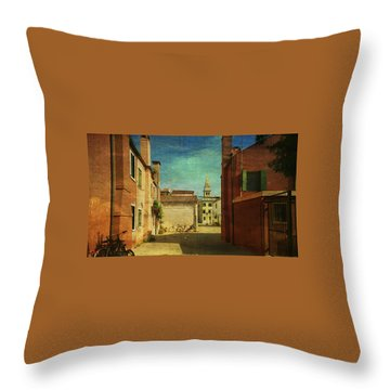 Malamocco Perspective No3 Throw Pillow by Anne Kotan