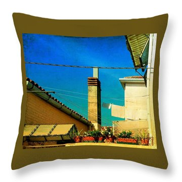 Throw Pillow featuring the photograph Malamoccoskyline No1 by Anne Kotan
