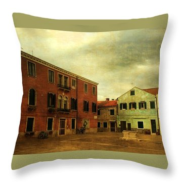 Throw Pillow featuring the photograph Malamocco Piazza No1 by Anne Kotan