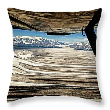 Malaspina Glacier Alaska Throw Pillow
