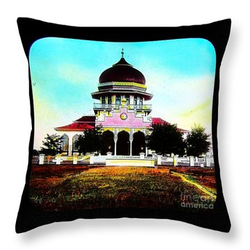 Malay Mosque Singapore Circa 1910 Throw Pillow