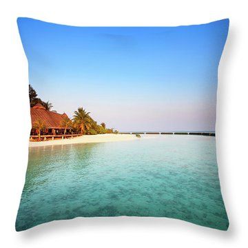 Maldives Morning Throw Pillow