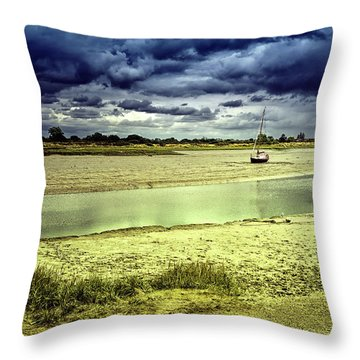 Maldon Estuary Towards The Sea Throw Pillow