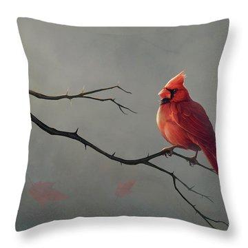 Northern Cardinal Throw Pillows