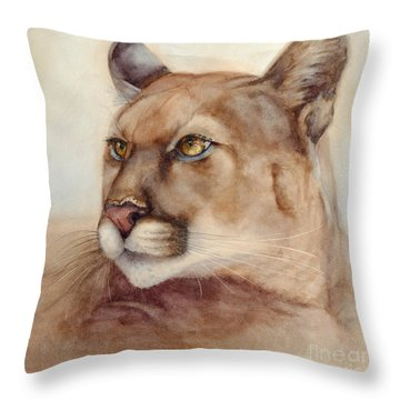Male Cougar Throw Pillow