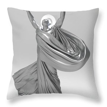 Male Lamp Number Eighteen Throw Pillow