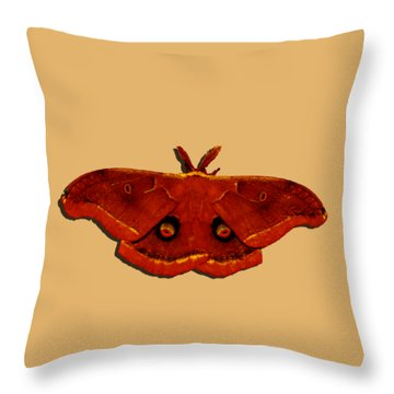 Throw Pillow featuring the photograph Male Moth Red .png by Al Powell Photography USA