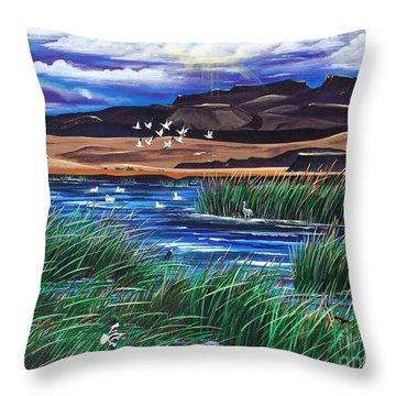 Malhuer Bird Refuge Throw Pillow