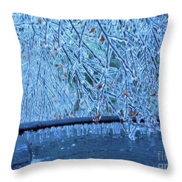 Malibu Icicles Throw Pillow