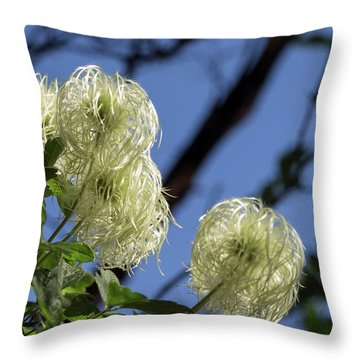 Old Man's Beard Throw Pillow