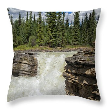 Throw Pillow featuring the photograph Maligne Canyon by Patricia Hofmeester