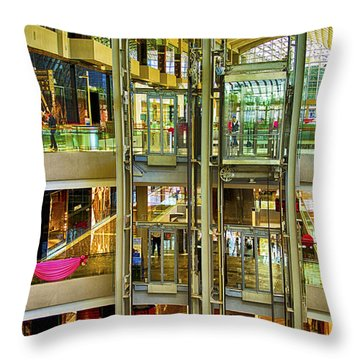 Mall In Singapore Throw Pillow