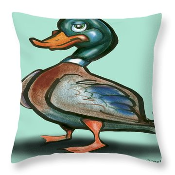 Mallard Duck Throw Pillow by Kevin Middleton
