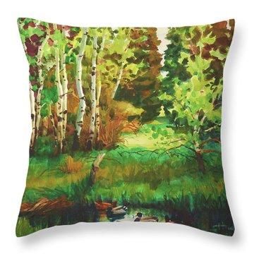 Mallard Grove Throw Pillow