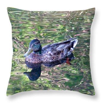 Mallard Monet Throw Pillow