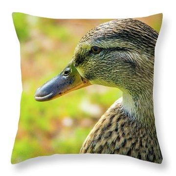 Mallard Portrait - Female Throw Pillow