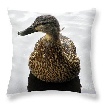 Mallard Profile Throw Pillow