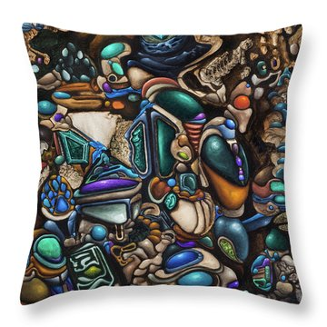 Malleomorphic Minerals In Mounds Of Majestic Muc Throw Pillow