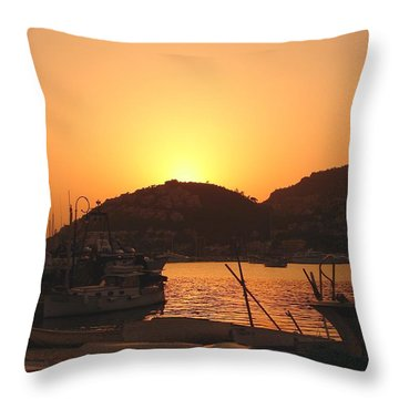 Throw Pillow featuring the photograph Mallorca 1 by Ana Maria Edulescu
