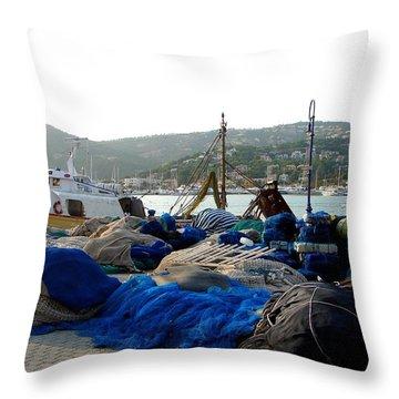 Throw Pillow featuring the photograph Mallorca 2 by Ana Maria Edulescu