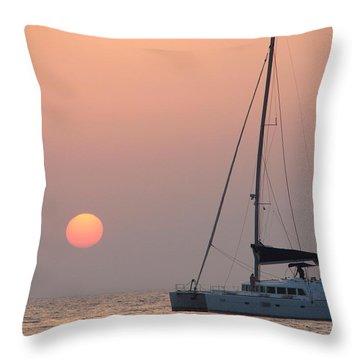 Throw Pillow featuring the photograph Mallorca 3 by Ana Maria Edulescu