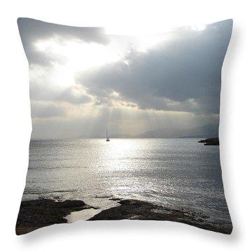 Throw Pillow featuring the photograph Mallorca by Ana Maria Edulescu