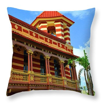 Throw Pillow featuring the photograph Mallory Square Lines by Jost Houk