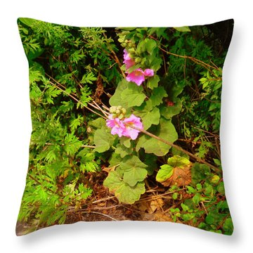 Mallow Pink Throw Pillow