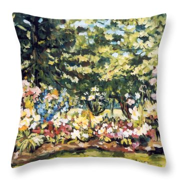 Mallquist's Garden Throw Pillow