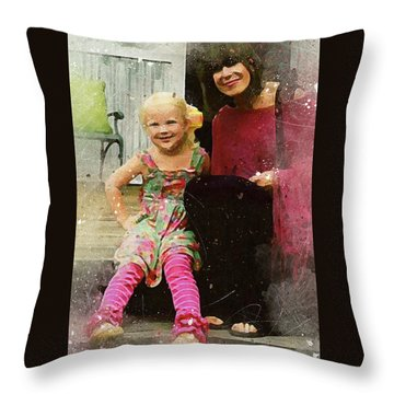 Mally And Mimi Throw Pillow
