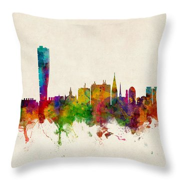 Malmo Sweden Skyline Throw Pillow
