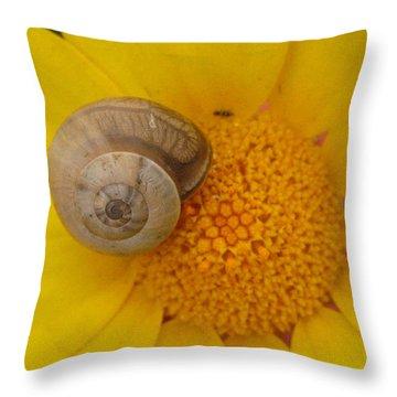 Malta Flower Throw Pillow