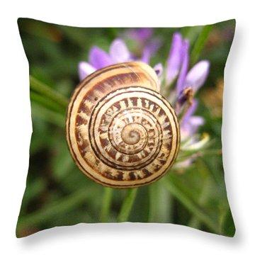 Malta Snail Throw Pillow