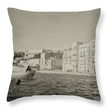 Throw Pillow featuring the photograph Maltese Boat by Charles McKelroy