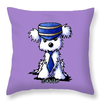Maltese Conductor Throw Pillow