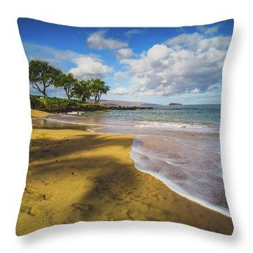 Maluaka Beach Throw Pillow