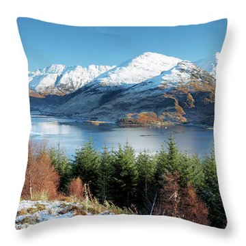 Throw Pillow featuring the photograph Mam Ratagan by Grant Glendinning