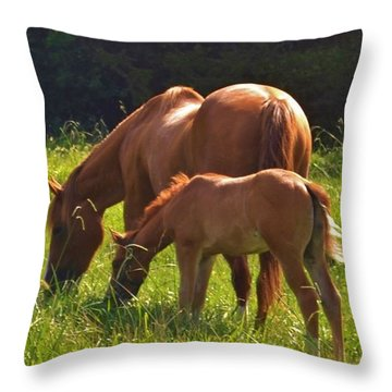 Mama And Baby Throw Pillow