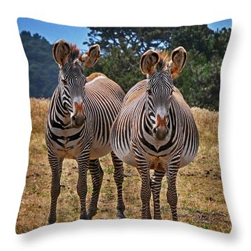 Throw Pillow featuring the photograph Mama And Friend by Melinda Hughes-Berland