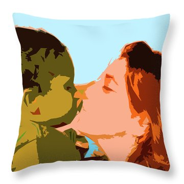 Mama And Me Throw Pillow