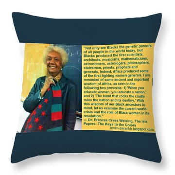 Mama Frances Cress Welsing Throw Pillow