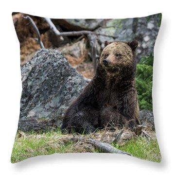 Mama Griz Nursing Throw Pillow
