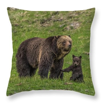 Mama Just Don't Move Throw Pillow
