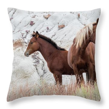 Throw Pillow featuring the photograph Mama by Kelly Marquardt