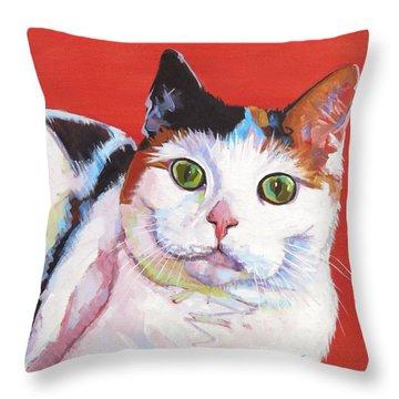 Mama Kitty Throw Pillow
