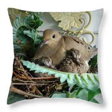 Mama Morning Dove Throw Pillow