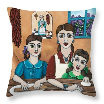 Mamacitas Tortillas Throw Pillow